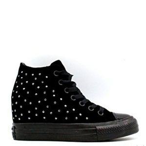 b9d9b8201326 Converse Shoes - NWT Converse Chuck Taylor Lux Wedges Black Velvet